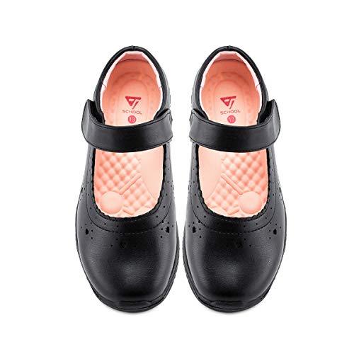 JABASIC Girls School Dress Shoes Mary Jane Flats