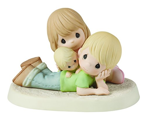 Precious Moments,  Precious Is Our Family Bisque Porcelain Figurine, (Precious Moments God)