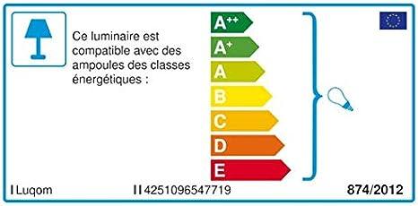 pour Chambre /à coucher en Blanc en Pl/âtre//Terre Cuite e Lampe Murale Applique Moderne Applique Murale Edon /à intensit/é variable Eclairage /à 2 lampes, E14, A++ Luminaire a de LINDBY