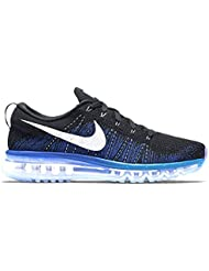 Nike Flyknit Max Men Running Run Lifestyle Sneakers New Black White Blue