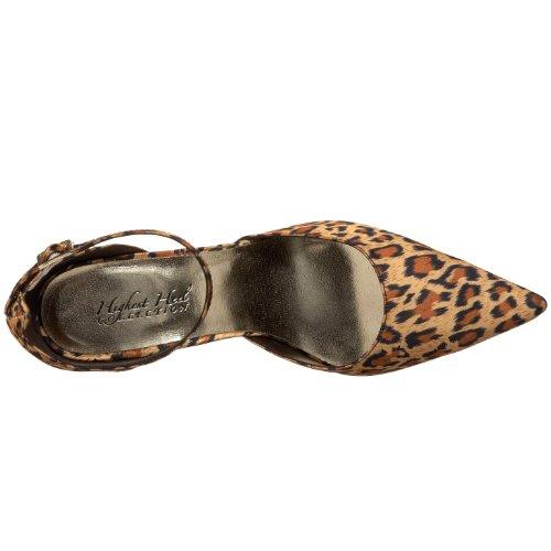 cinghia Liscia Pompa Raso Tacco Alto Leopardo Caviglia Femminile Ox46nYq1w