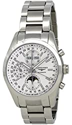 Longines Conquest Classic Silver Dial Chronograph Stainless Steel Mens Watch L27984726