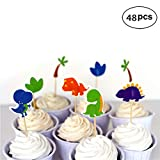 Dinosaur Cupcake Toppers Picks, Dinosaur Creature Animals Cake Cupcake Topper for Kids Birthday Party Themed Party Baby Shower Party Decorations Supplies.