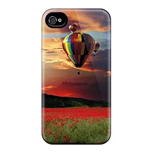 Durable Air Balloon Landscape Hd Back Case/cover For Iphone 4/4s