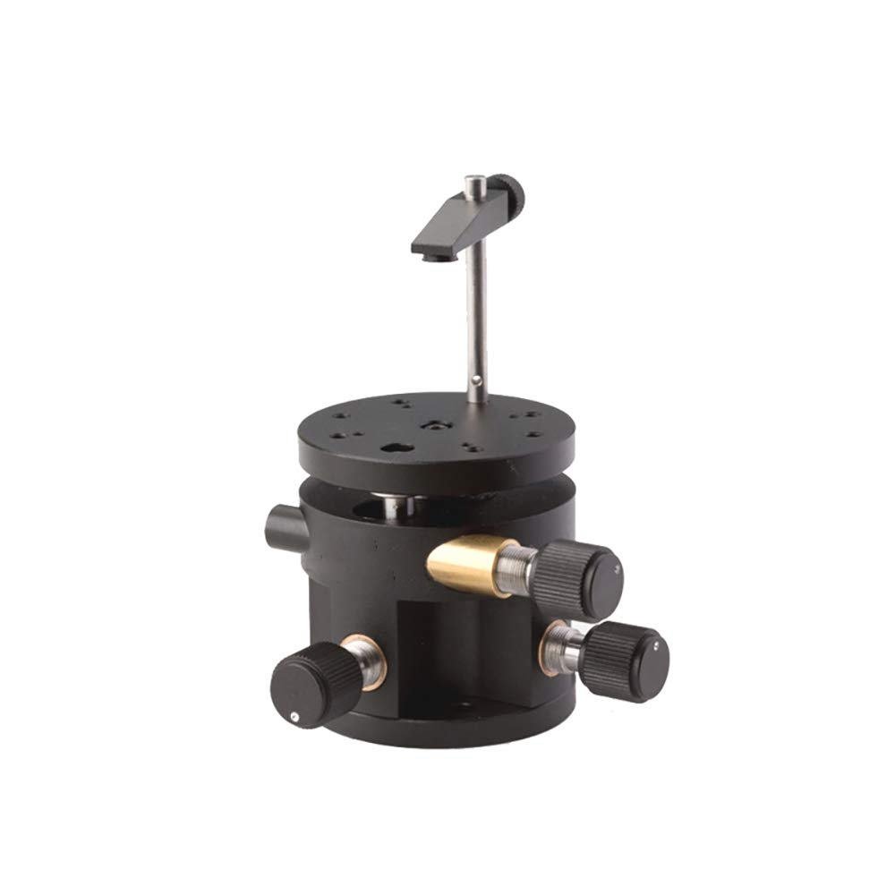 Manual XYZ Pitch Rotation Degree of Freedom Workbench φ48 Mounting Optical Lens Tilting Platform MRS-121M