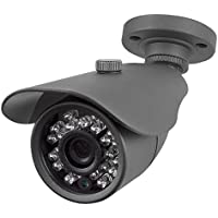 R-Tech 2MP (1080P) HD TVI Outdoor Bullet Security Camera with IR Night Vision – 3.6mm Fixed Lens – Black