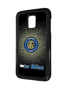 (Football) Team Logo Samsung Galaxy S5 Mini Fundas Case for Man , Black Inter Milan FC Fundas Case Italian Serie A Printed Personalized TPU Bumper