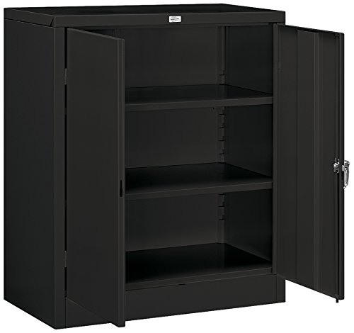 Salsbury Industries Counter Height Storage Cabinet, 42-Inch by 18-Inch, Black