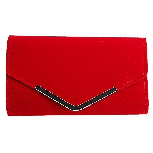 SCASTOE Women Velvet Clutches Bag Wedding Party Shoulder Chain Handbag Evening Bag