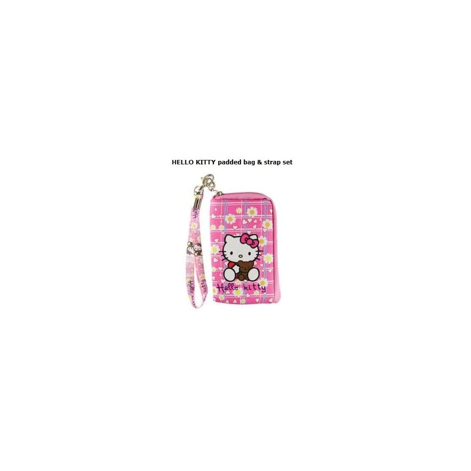 HELLO KITTY Cell Phone padded bag & strap set
