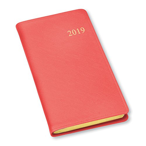 2019 Gallery Leather Pocket Weekly Planner Key West Salmon (Spine Pocket)