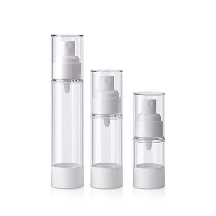 Aszhdfihas Conjunto De Botella De Spray De Plástico Transparente De 3 Botellas Vacías Y Tapa De