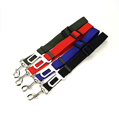 (LIULINCUN Adjustable Dog Safety Seat Belt 2019 Car Vehicle Seatbelt Harness Lead Clip Safety Lever Auto Traction Pet Dog Supplies Restraint Lead Travel Clip,Blue)