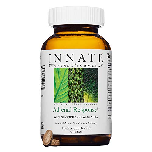 INNATE Response Formulas - Adrenal Response, Sensoril Ashwagandha Supports Response to Stress and Fatigue, 90 Tablets (Best Form Of Vitamin C For Adrenal Fatigue)