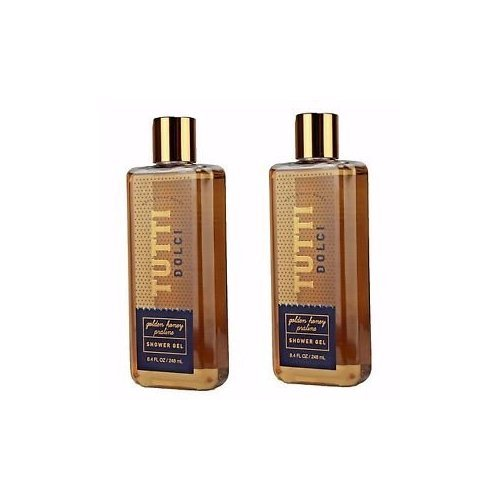 Set of 2 Bath and Body Works Tutti Dolci Golden Honey Praline Shower Gel 10 Ounce Body Wash (Golden Body)