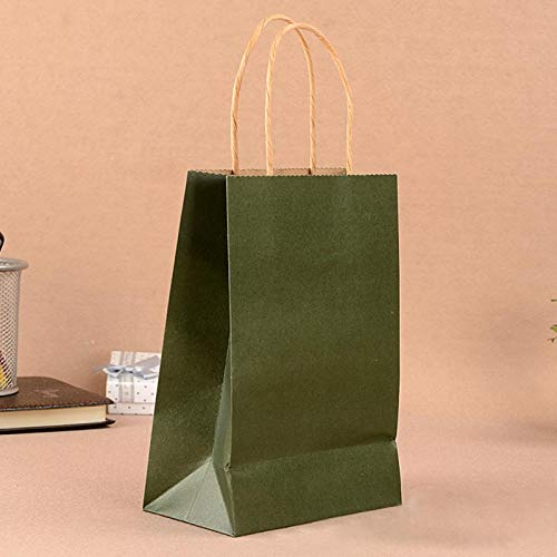 Haga Party Bag Paper Bag with Handles Sweet Color for Halloween Wedding Birthday Party Jewelry Festival Gifts Candy Paper Bags Green 27x21x11cm -