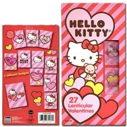 1 X Sanrio Hello Kitty 27 Hologram Lenticular Valentines Day Cards Sales