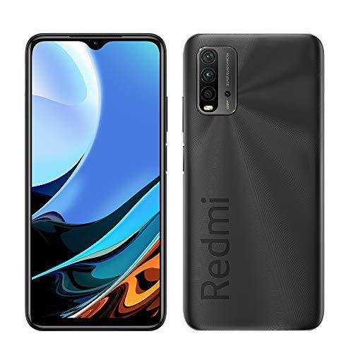 Xiaomi Redmi 9T 4G LTE GSM Volte Factory Unlocked 64GB / 4GB Ram Quad Camera 48MP Global (At&t Tmobile Metro Latin Europe) 6.53 inch (NO VERIZON/Boost) (Carbon Grey)