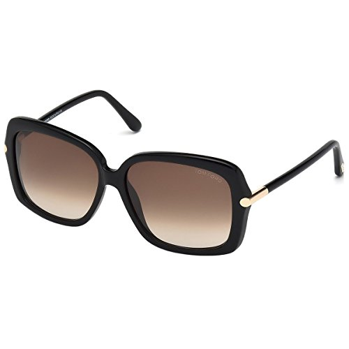 Tom Ford Sunglasses - Paloma / Frame: Black Lens: Brown - Black Sunglasses Ford Tom
