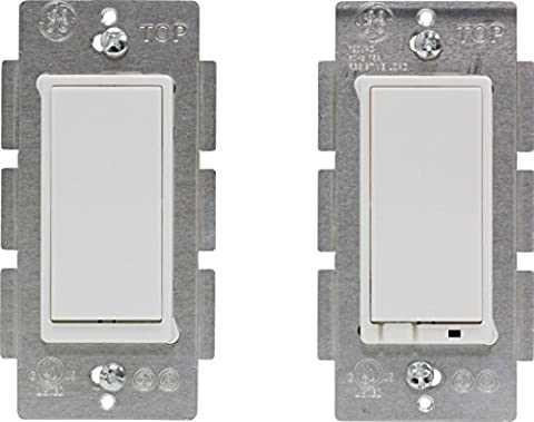 Latest Z-Wave Plus GE by Jasco Wireless Lighting Control Three-Way On/Off Kit (OEM Packaging) (3 Function Light Switch)