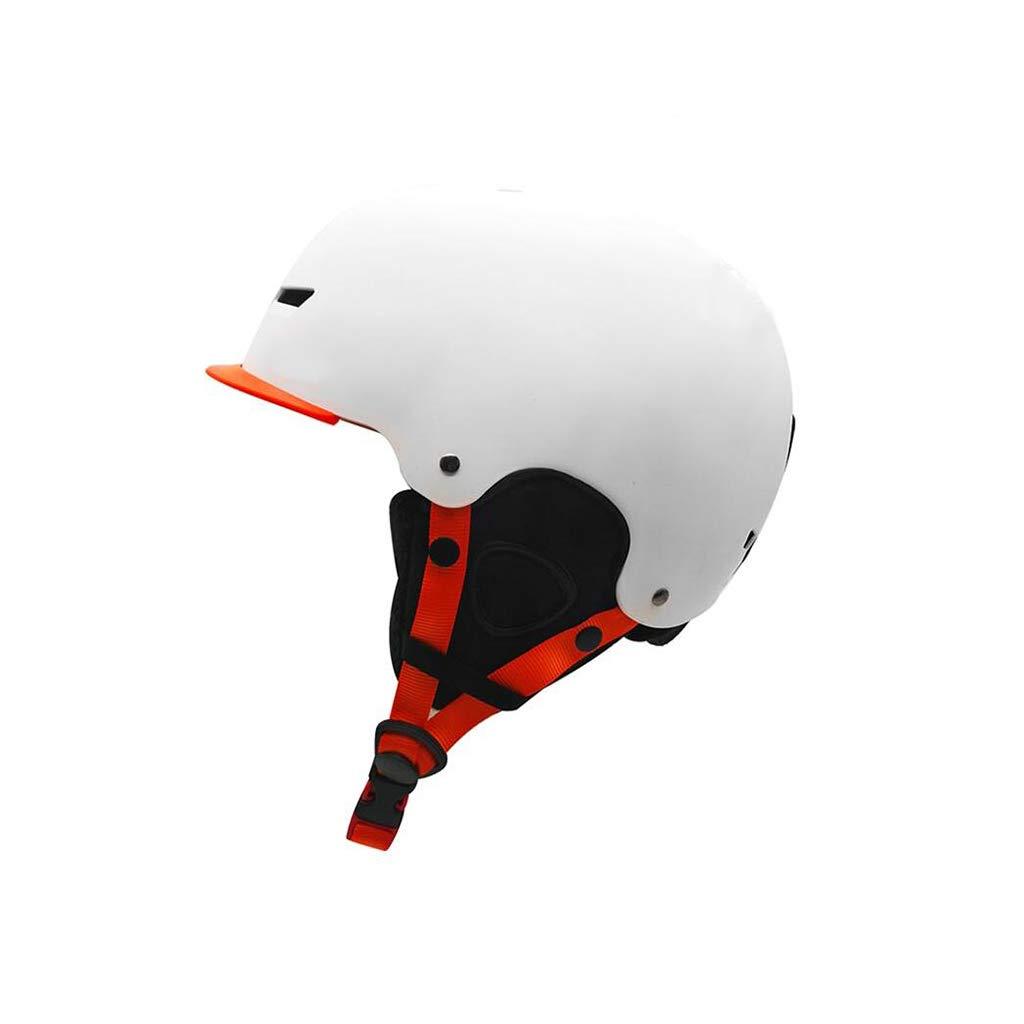 ヘルメット スキー&スノーボードヘルメット、スキー用保護安全帽男性女性スケートボードスケートヘルメット調節可能なヘッドバンドB B07PV64RW4 白 L l L l|白