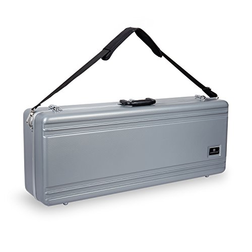 Crossrock CRA860TSSL-R Tenor Saxophone Case-Rectangular ABS Molded with Single Shoulder Strap, ()