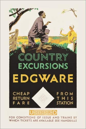 Posterlounge Cuadro de metacrilato 60 x 90 cm: Country Excursions, Egware de Travel Collection