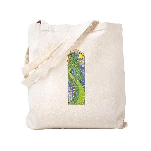 CafePress Dragon Bookmark Natural Canvas Tote Bag, Cloth Shopping ()