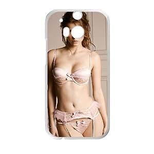 California Sexy Girl Retro 004 funda HTC One M8 caja funda del teléfono celular del teléfono celular blanco cubierta de la caja funda EVAXLKNBC21671