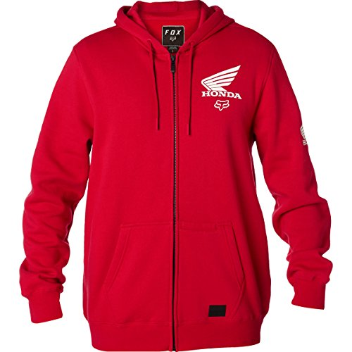Honda Zip Hoody - Fox Racing Honda Zip Hoody-Dark Red-M