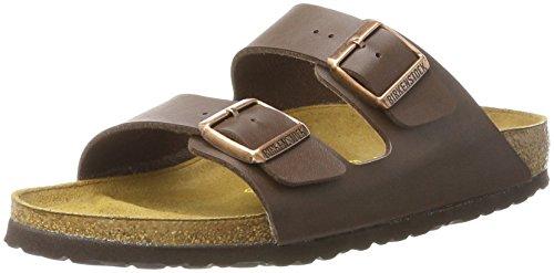 Birkenstock Unisex Arizona Dark Brown Birko Flor Sandals - 42 N EU/11-11.5 2A(N) US Women/9-9.5 2A(N) US ()