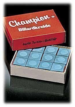 CHAMPION-BILLARDKREIDE, 12 Stücke, blau