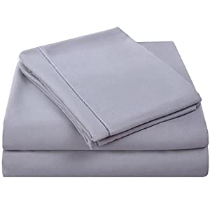 balichun microfiber 3 piece bed sheet set with. Black Bedroom Furniture Sets. Home Design Ideas
