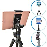 Tripod Tablet Mount with Adjustable Angles [2 in 1] for iPad Pro/Air/Mini, 7-11 inch Android Tablet, iPhone & Cell Phone - APPS2Car Universal Tablet Mount Tripod Holder Adapter Stand for iPad/iPhone