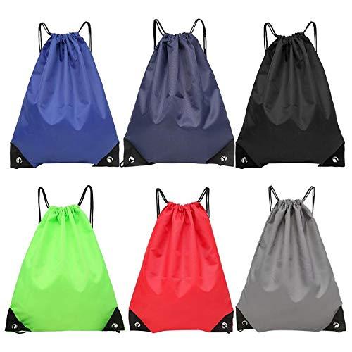Hommes Sac unisexe Grand Nylon dos extérieur cordonnet foncé sac poitrine Rouge Aprigy Sac Bleu Cycle Femmes à Sacs cordonnet à Casual imperméable Mode wqAnnazXI