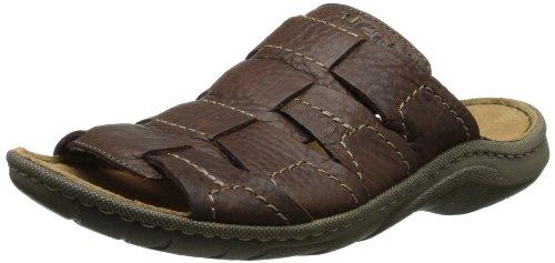 Clarks Men's Woodlake Easy Wedge Sandal,Dark Brown,11 M US