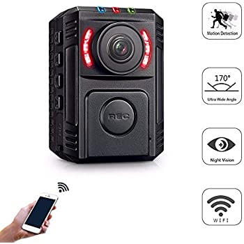 Body Cameras for Law Enforcement - Body Cameras with Night Vision - Small Police Body Camera - HD 1080P Motion Detection - Mini Body Worn Camera - WiFi ...
