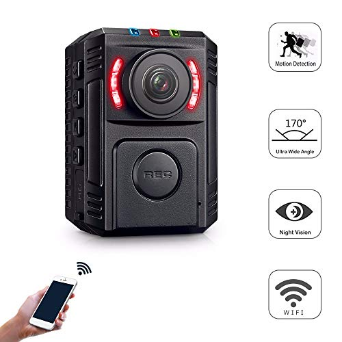 - Body Cameras for Law Enforcement - Body Cameras with Night Vision - Small Police Body Camera - HD 1080P Motion Detection - Mini Body Worn Camera - WiFi Wireless Security Personal Camera with Phone App