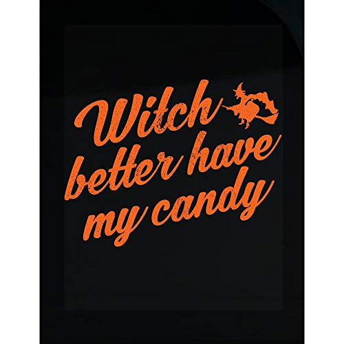 Custom Chimp Witch Better Have My Candy Funny Halloween Design for Women and Girls - Transparent Sticker