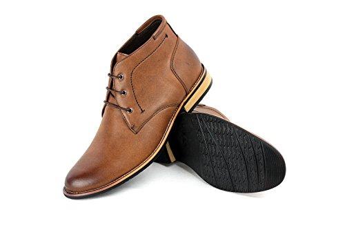 Botines Hombre Moda Informal Motero Zapatos Formales Inteligentes RU 6 7 8 9 10 11 NUEVO Café