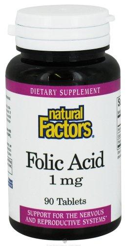 Природные факторы - Фолиевая кислота 1 мг. - 90 таблеток