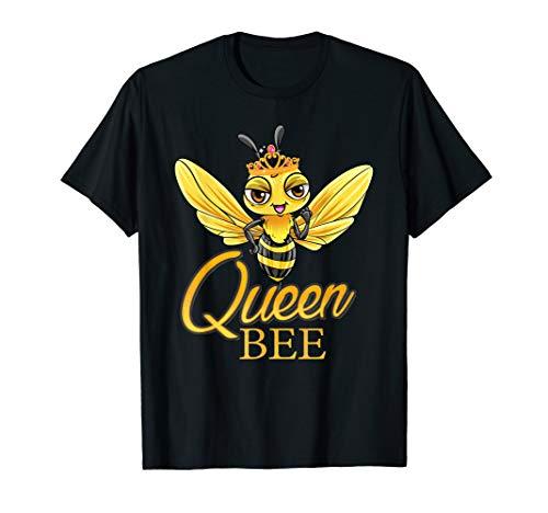 Queen Bee T-Shirt Crown Honey Bee Hive Shirt Gift (Honey Clothes)