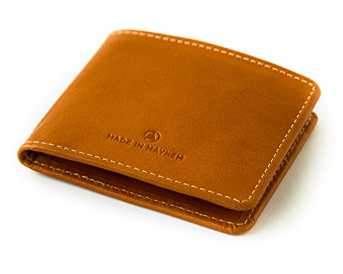 Grande Wallet Lincoln Doble Cartera uu De De Large Usa Leather Saddle Hecho Pliegue Bifold Piel Ee Silla Made Lincoln In En q8YtIy