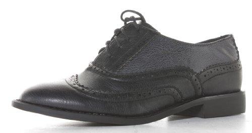 Boutique Lace Ladies Vintage Bag Womens Brogues Shoes Up shoeFashionista Flat with Black Boots IxqxaP