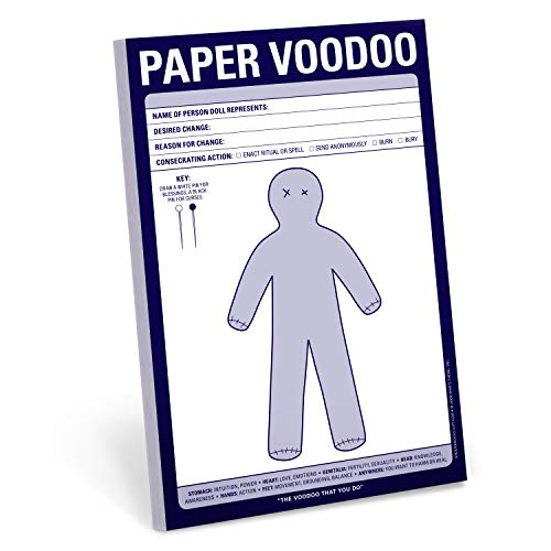 - Knock Knock Paper Voodoo Note Pad, 6 x 9-inches