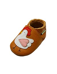 Sayoyo Baby Chicken Soft Sole Leather Infant Toddler Prewalker Shoes