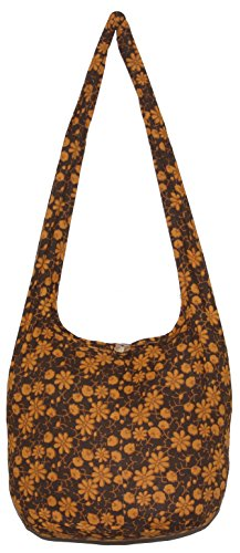 Flower Classics Bohemian Hippie Shoulder Hobo Boho Cross Body Bag (DarkBrown) by All Best Thing