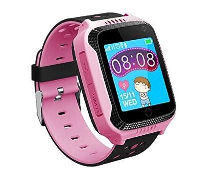 Reloj teléfono GPS sin función de escucha, para niños, llamada de emergencia + teléfono