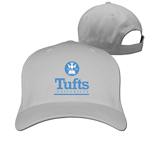 [WG Custom Awesome Adjustable Tufts University TU Logo Hiphop CapHat Ash] (Jumbo Hip Hop Adult Hat)