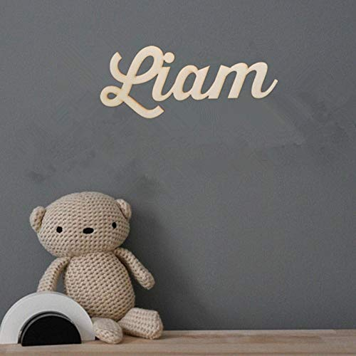 Best Quality - Custom Names - 1St Birthday Backdrop Name Sign Girl Boy Wall Name Art Calligraphy Sign Wedding Backdrop Sign Birthday Party Baby Shower Decor - by Kiartten - 1 Pcs ()